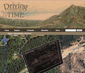 Image of the Driving Through Time web page